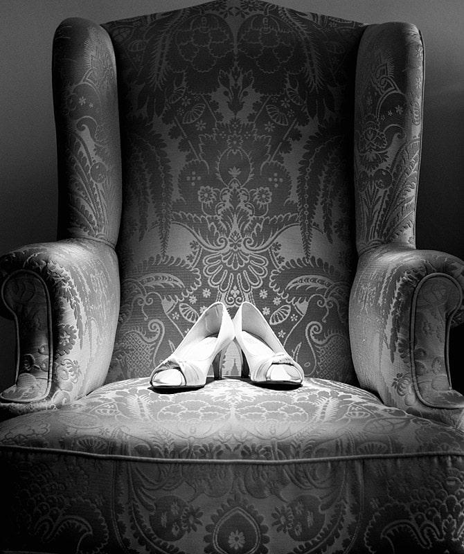 wedding shoes bride detail shot