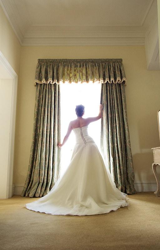 bridal portrait full length dress
