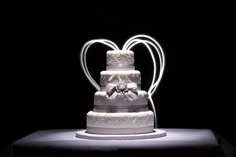 wedding cake creative photography