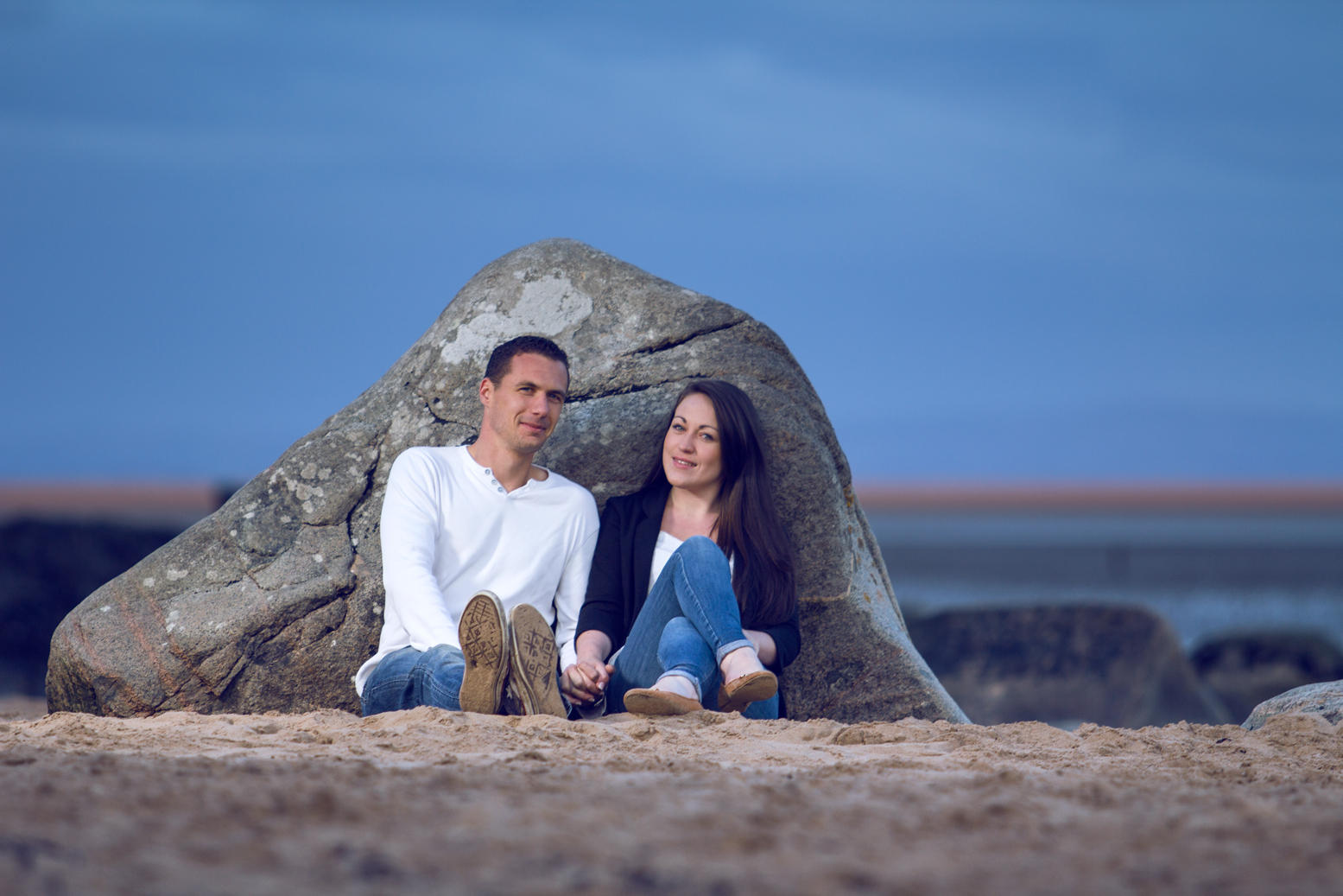 sunset engagment shoot reportage dumfries