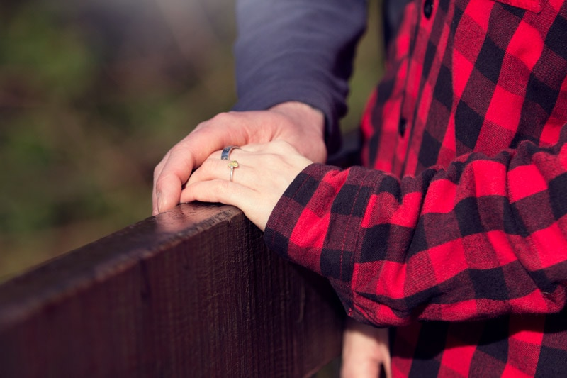 engagement shoot ring detail hands