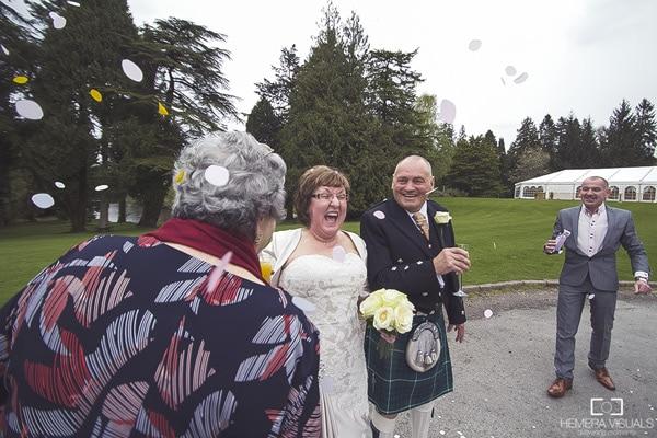 wedding confetti dumfries scotland