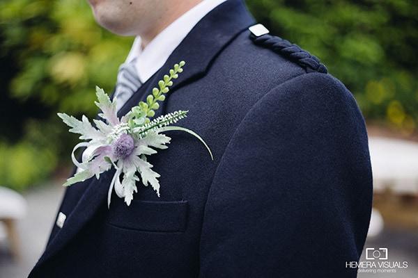 wedding details groom flower