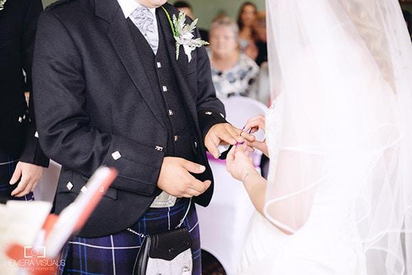 wedding exchanging rings