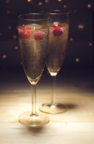 champagne food photography