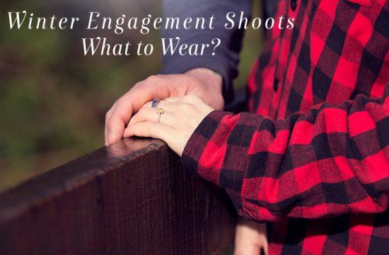 winter engagement shoot clothing