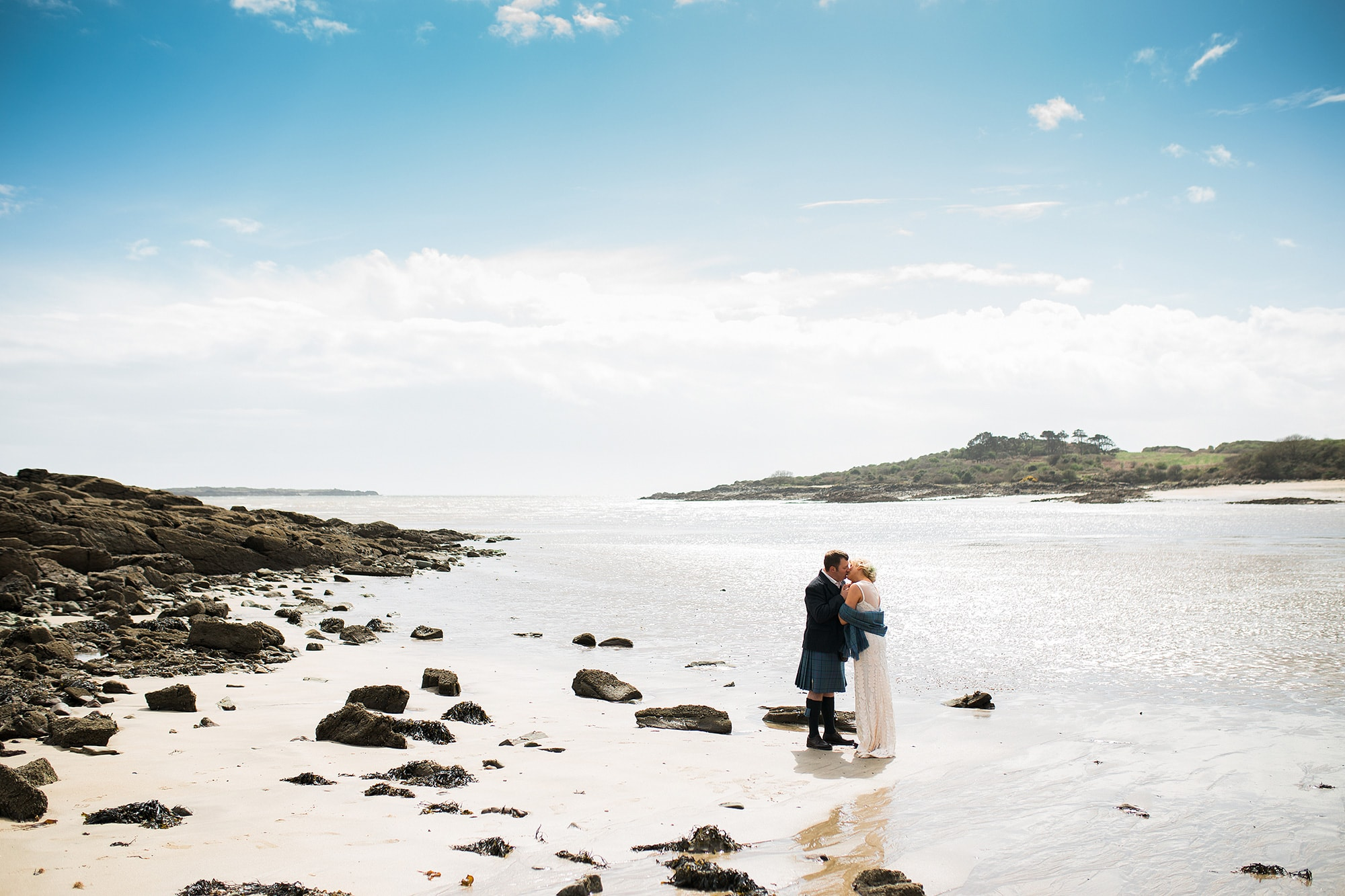 scottish beach elopement wedding