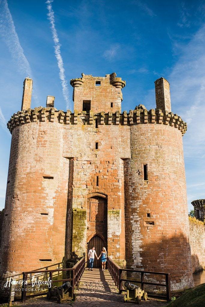 Caerlaverock Castle Dumfries Couple engagement