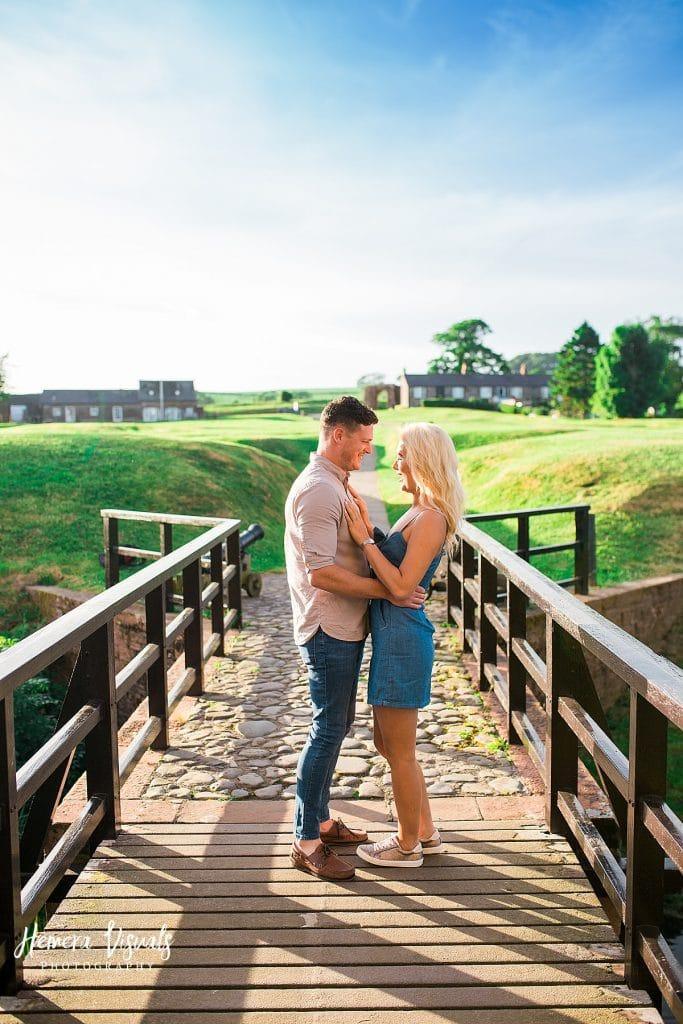 Caerlaverock Castle Dumfries couple engagement photgraphy