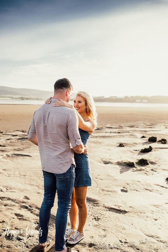 Caerlaverock Castle Dumfries beach couple engagement