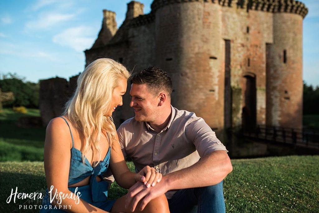 Caerlaverock Castle Dumfries engagement photography
