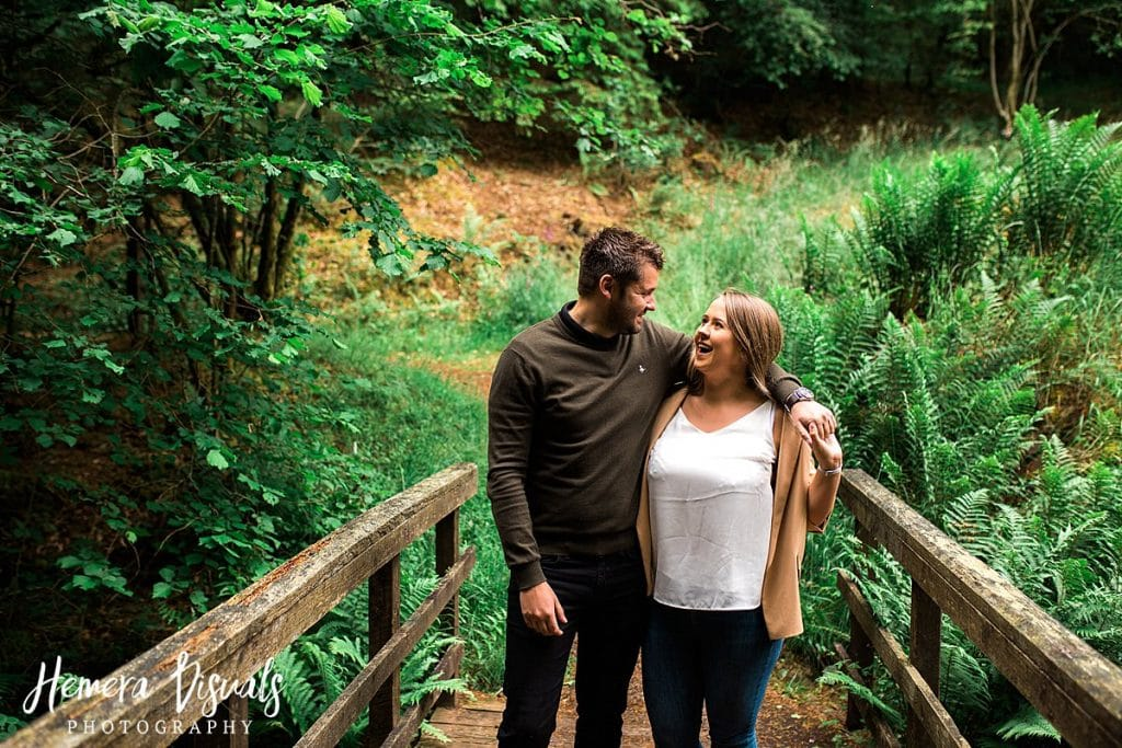 Drumlanring castle Scotland Engagement Shoot couple