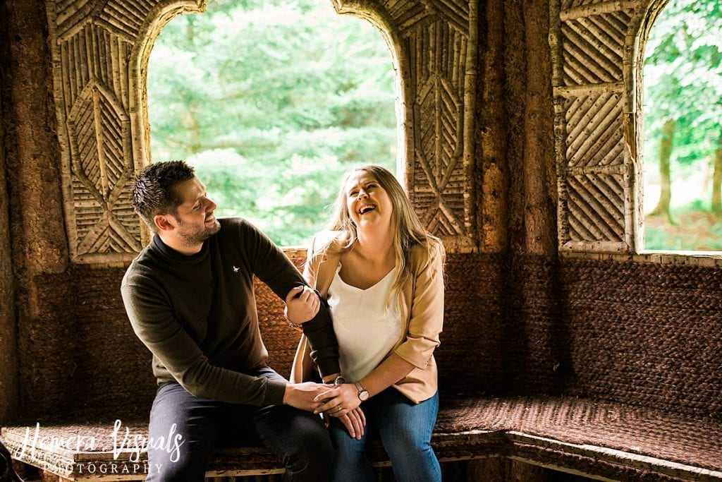 Drumlanrig castle laughing engagement shoot