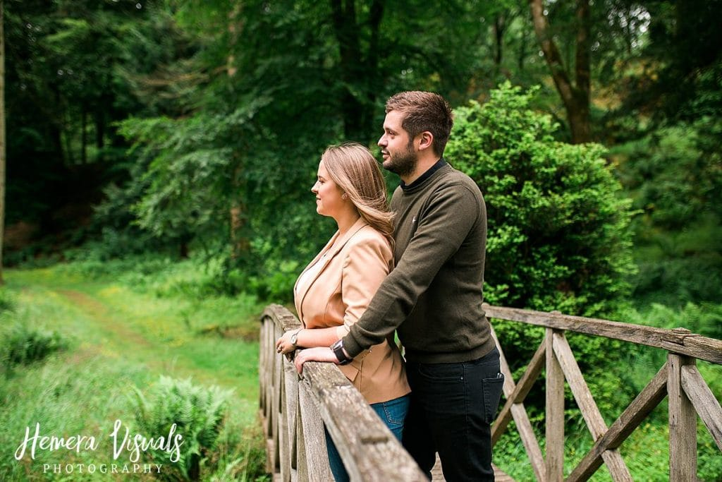 Drumlanrig castle bridge forest engagement photos
