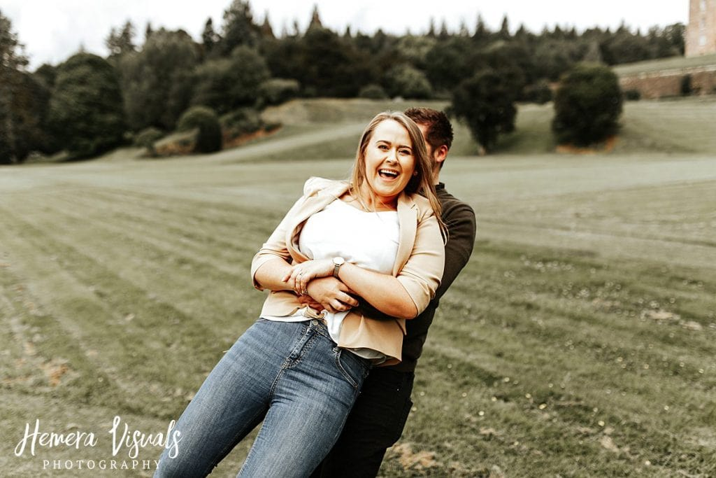 Drumlanrig castle couple engagement photography