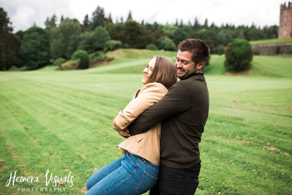 photography engagement shoot Drumlanrig castle