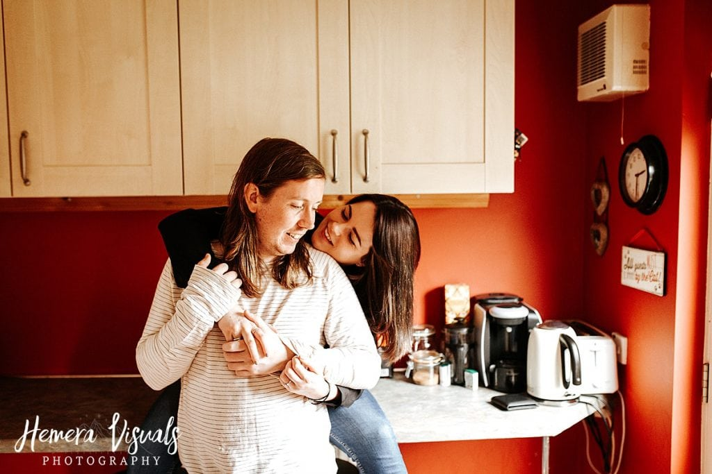 Dumfries Home engagement shoot Couple