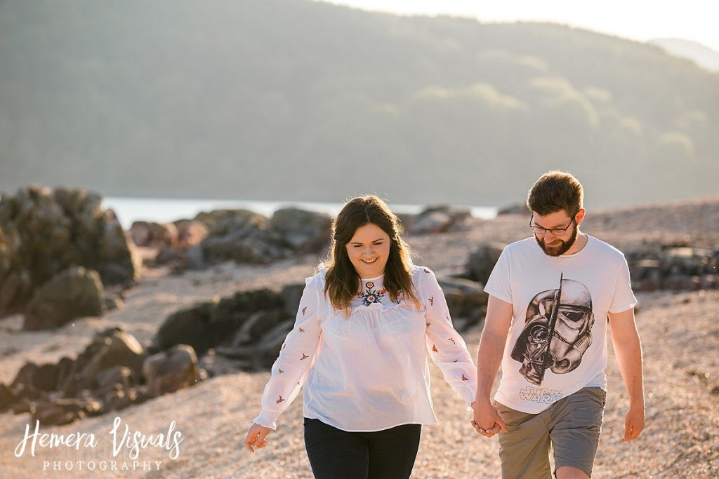 kippford dumfries engagement shoot couple
