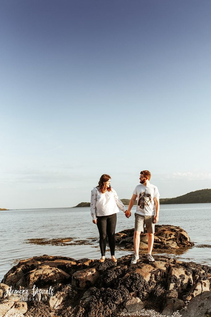 kippford dumfries scotland engagement shoot