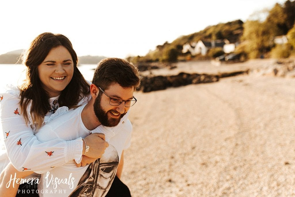 kippford dumfries sunset engagement shoot