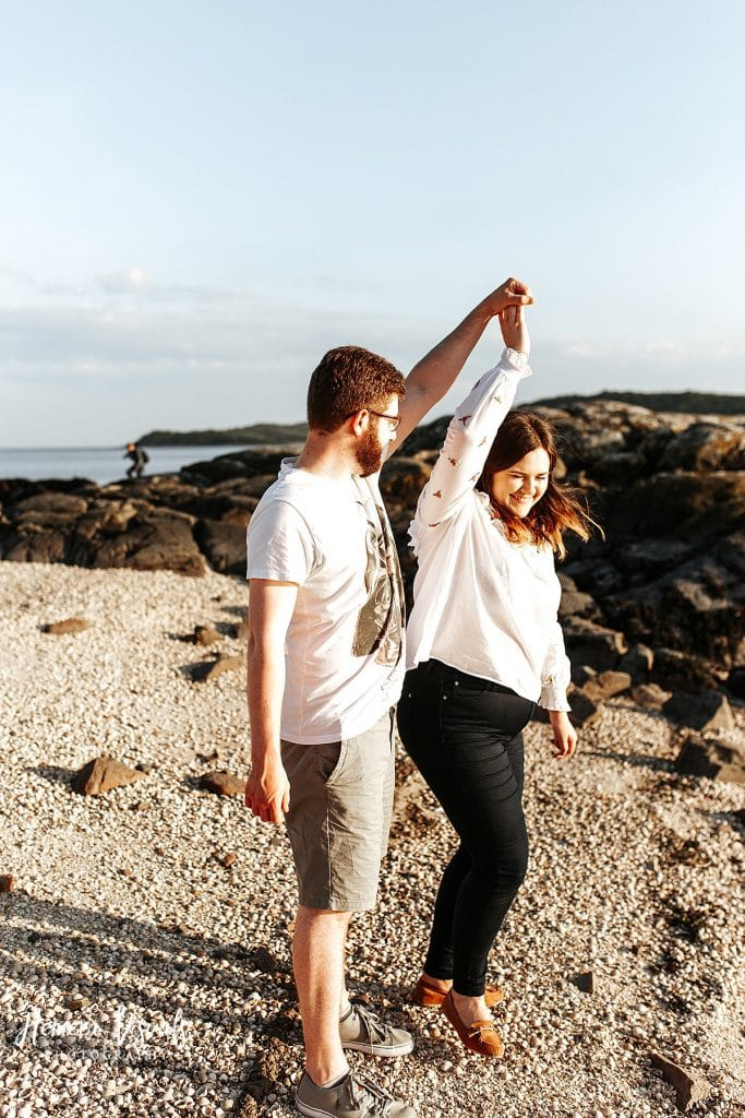 kippford dumfries dancing engagement photgraphy