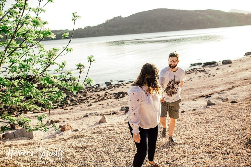 sunset kippford dumfries engagement shoot