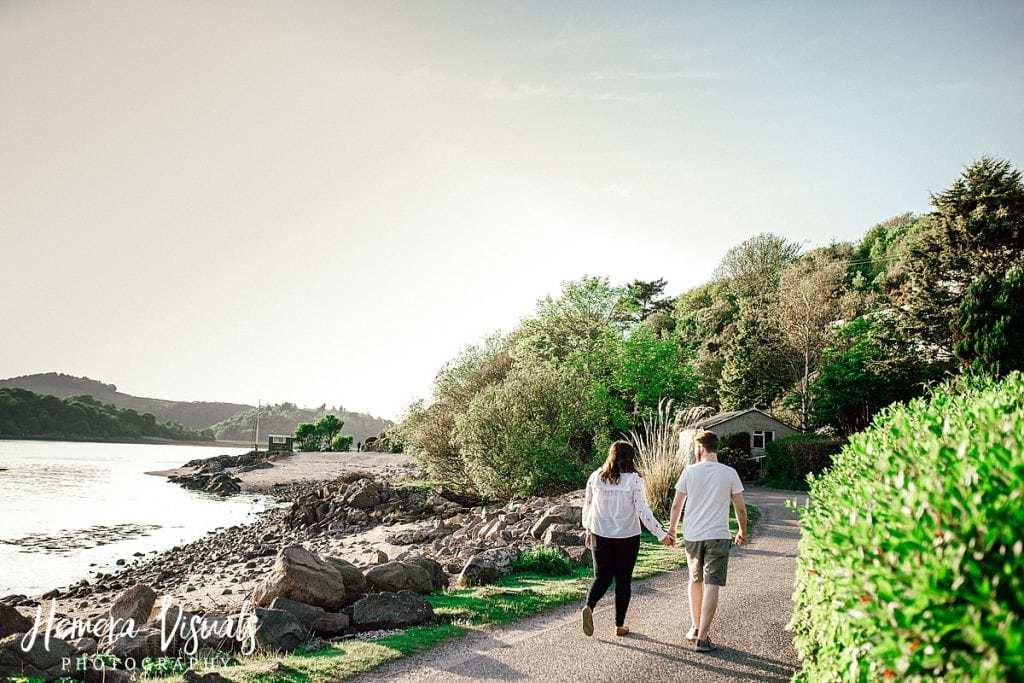 kippford dumfries walking engagement photography