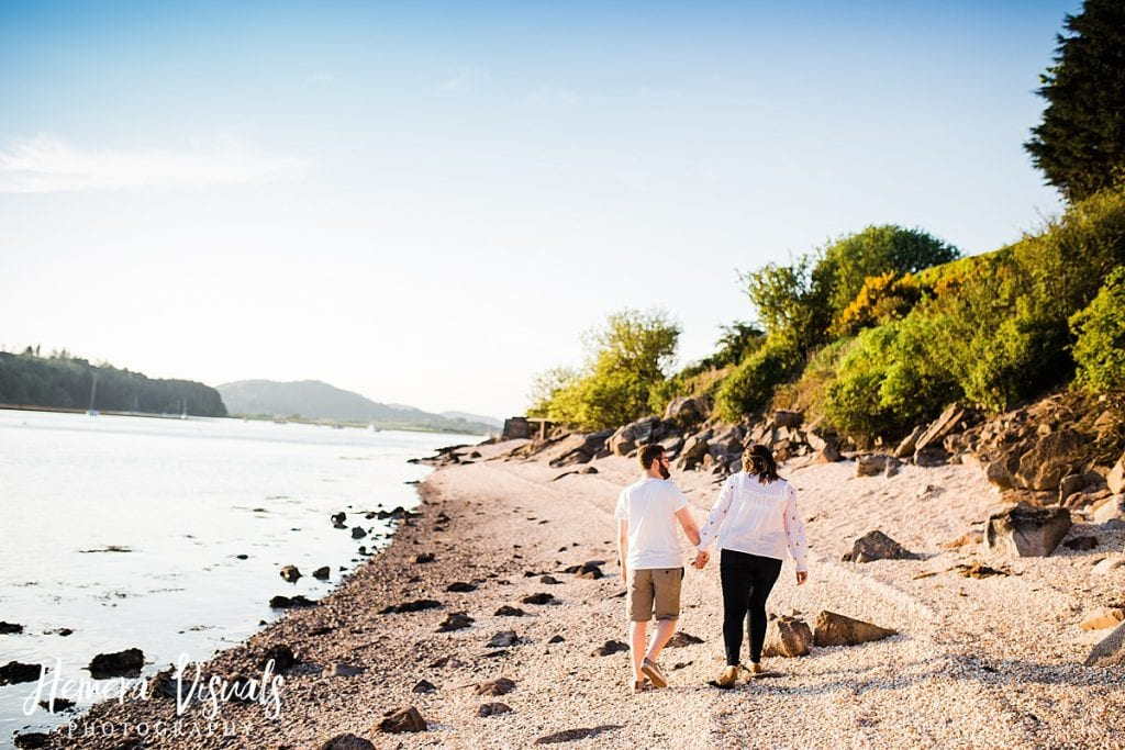 kippford dumfries sunset engagement photgraphy