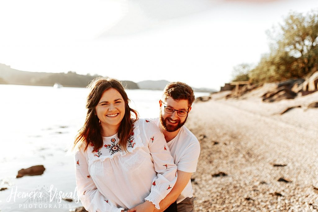 kippford dumfries beach engagement photgraphy