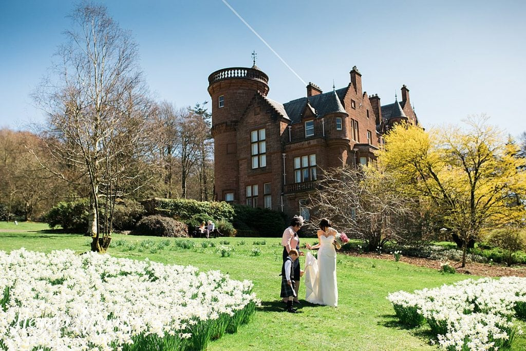 Threave gardens wedding spring castle douglas