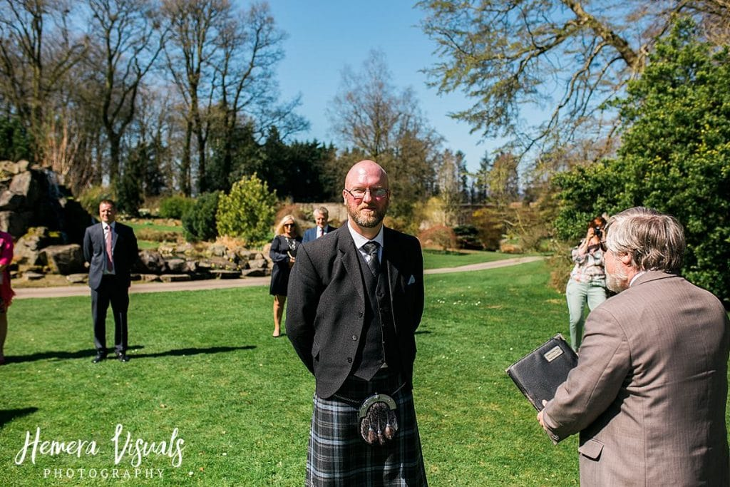 Threave gardens wedding groom castle douglas