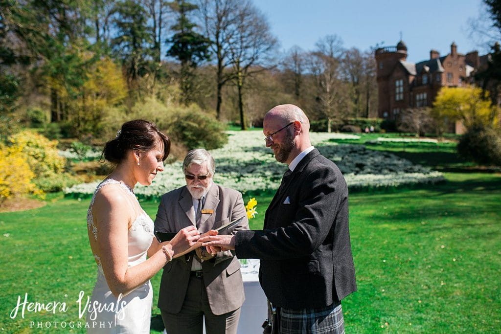 Threave gardens wedding castle douglas groom