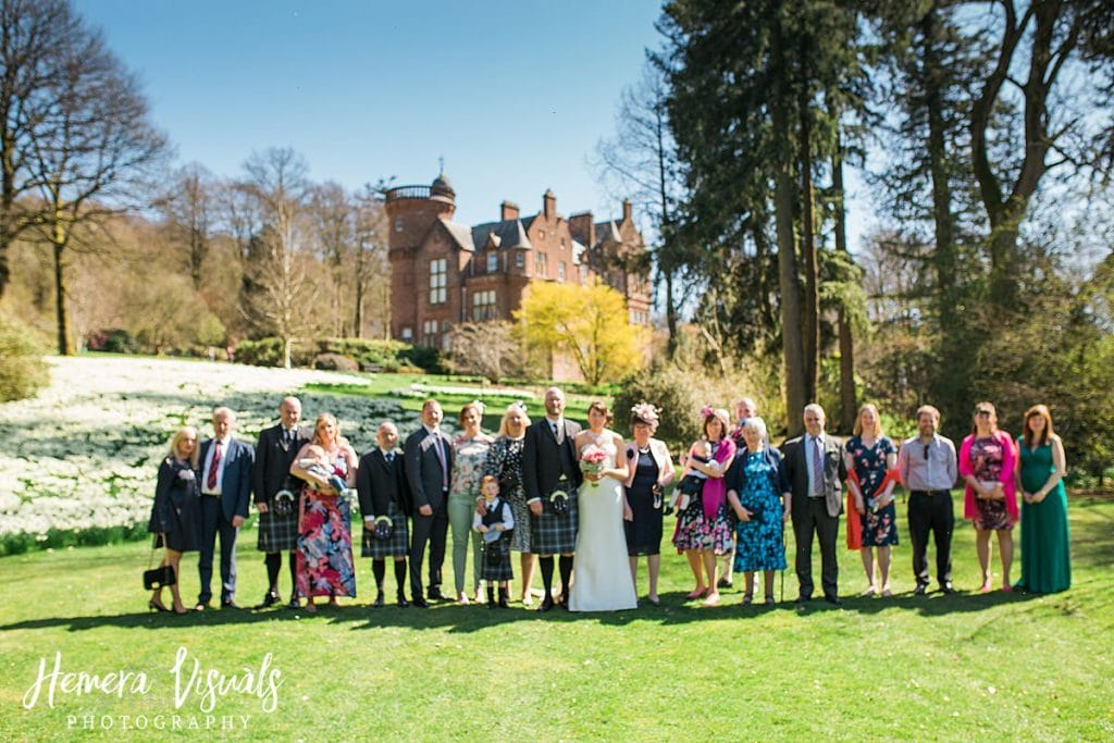 Threave gardens wedding group photography