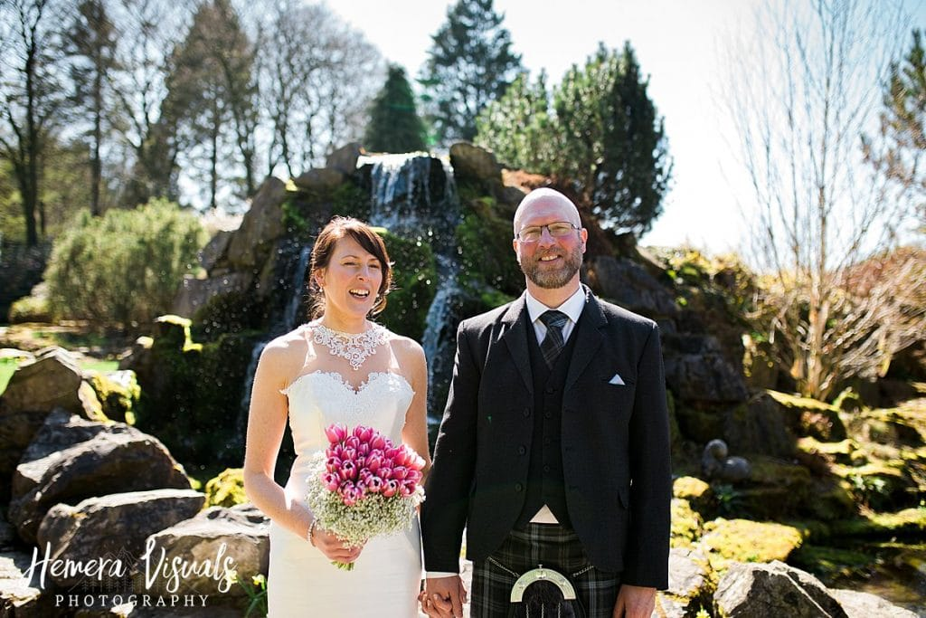Threave gardens wedding bride groom dumfries