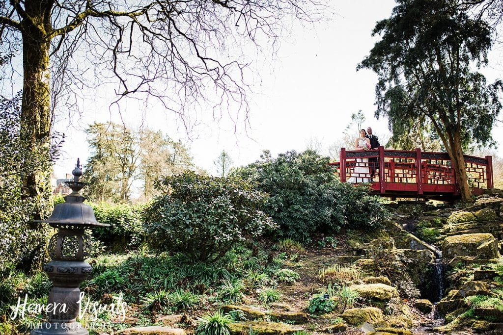 Threave gardens wedding oriental bridge