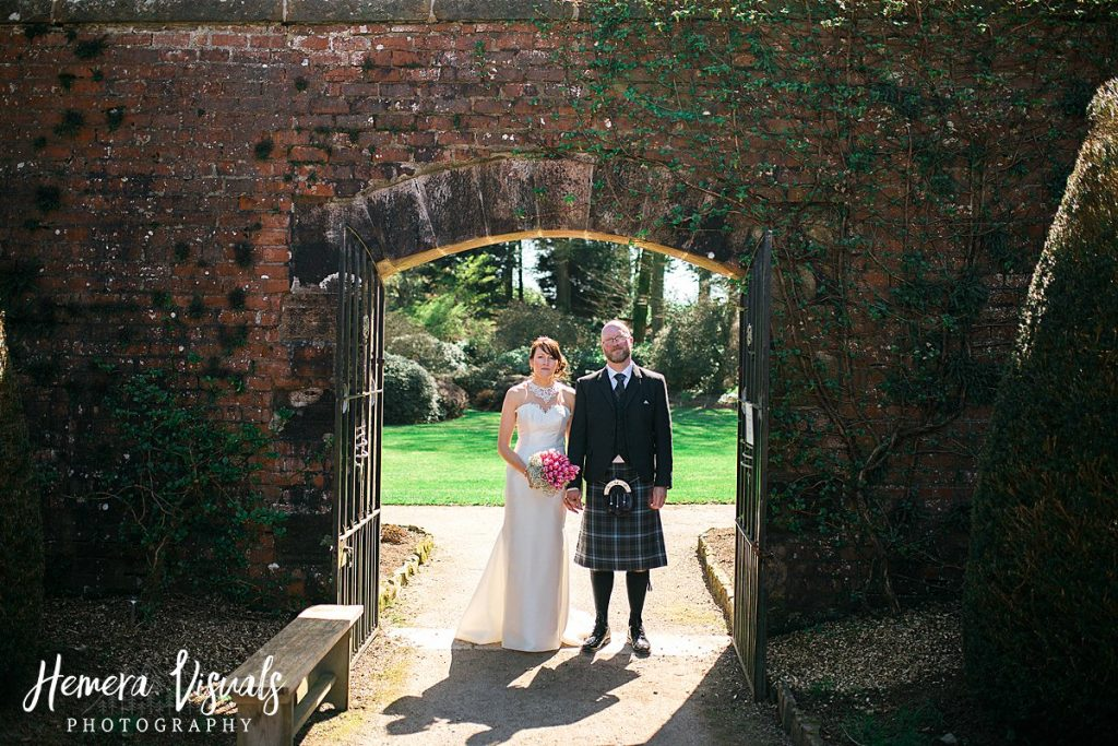 Threave gardens wedding gated arch dumfries