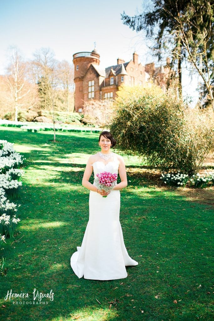 Threave gardens wedding castle douglas dumfries bride