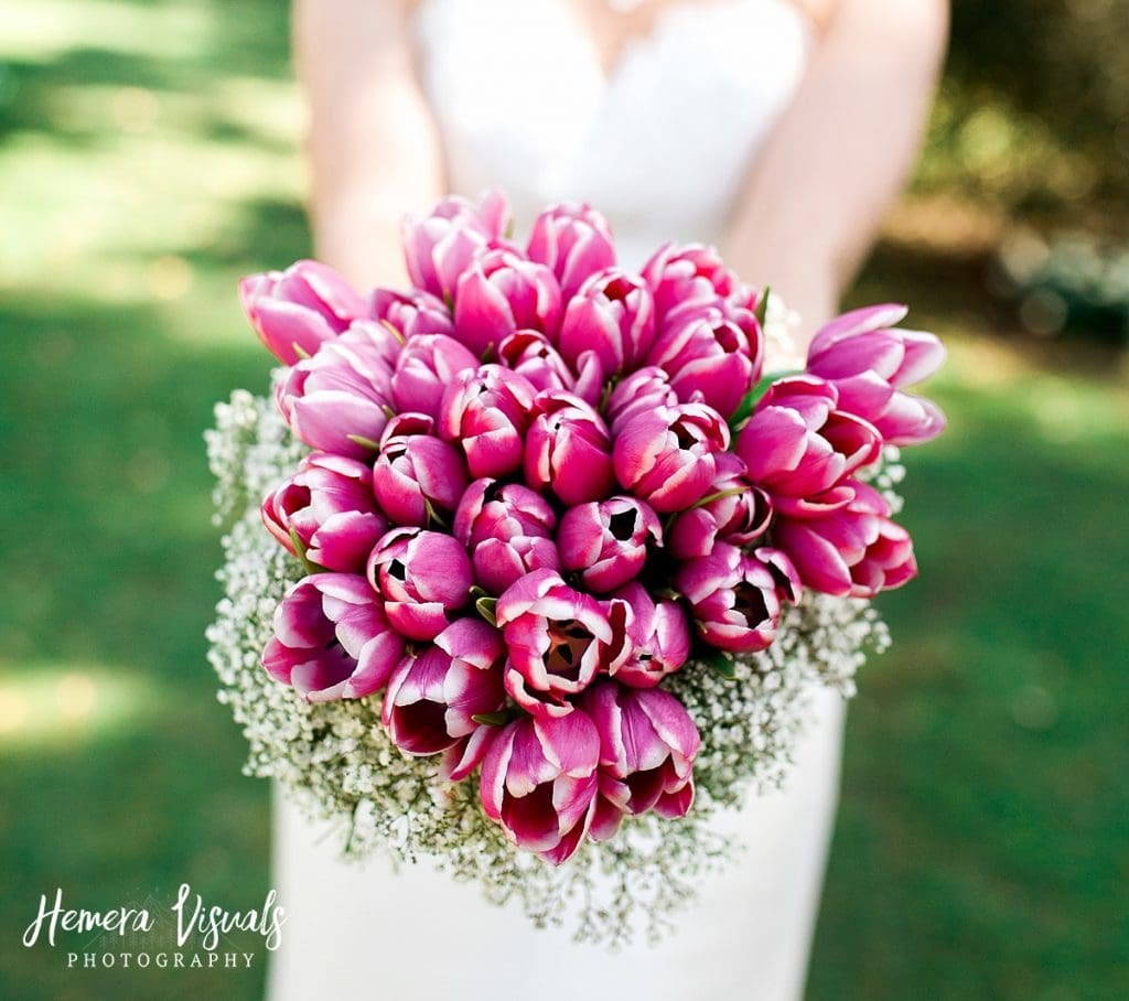 Threave gardens wedding bridal flowers