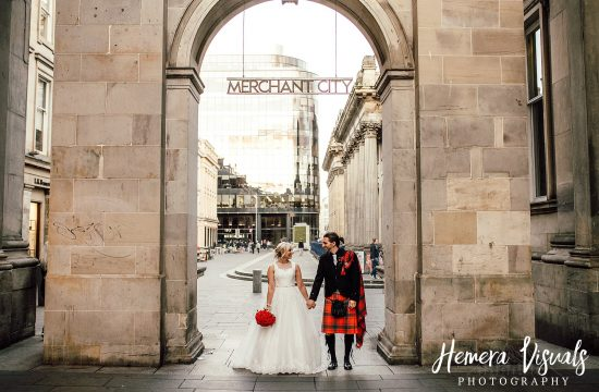 merchant city glasgow scottish wedding