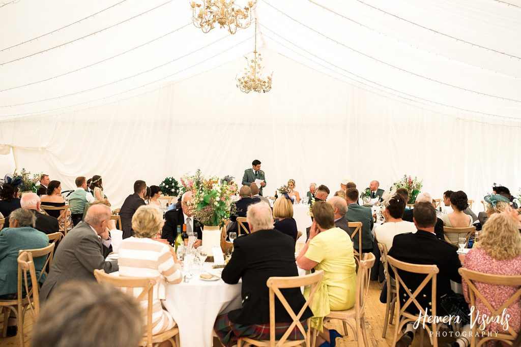 dalswinton estate wedding photography speech groom