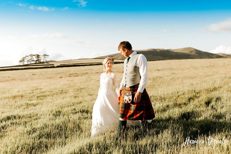 New House Farm like District Wedding golden hour couple